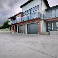 custom built modern home